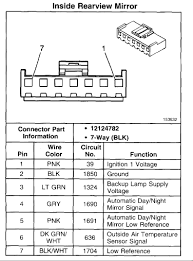 i took a power rearview mirror out of a 1999 01 chevy silverado gm wiring diagrams free download at 2017 Chevrolet 1500 Silverado Wiring Diagram