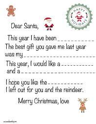 Printable Letter Templates Free Printable Letter To Santa Templates