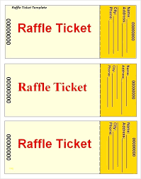 Fundraiser Tickets Template Free Ticket Raffle Arianet Co