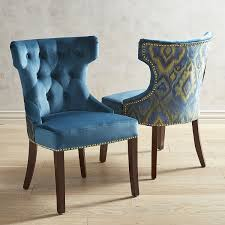 upholstered dining room chairs new hourgl plume teal dining chair with espresso wood