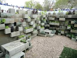 block wall ideas cinder block retaining