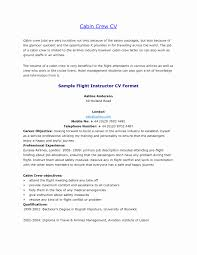 Resume Format For Aviation Ground Staff Awesome Cabin Crew Resume