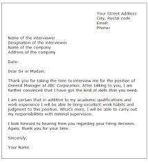 Sample Interview Thank You Letter