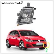 2015 Vw Gti Daytime Running Lights Left Side Lamp For Vw Golf 7 A7 Mk7 For Gti 2013 2014 2015 2016 2017 Car Styling Front Led Drl Fog Lamp Fog Light Without Error