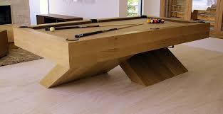 custom pool tables. Contemporary Quarter-Sawn White Oak X-Base Pool Table Custom Tables