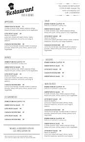 Free Printable Restaurant Menu Template Free Printable Restaurant Menu Templates cactusdesigners 1