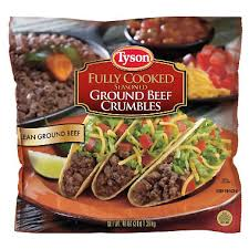 fully cooked ground beef. Unique Cooked Tyson Fully Cooked Seasoned Ground Beef Crumbles  3 Lbs Inside