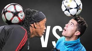 RONALDINHO vs CRISTIANO RONALDO ○ Freestyle Crazy Tricks - YouTube