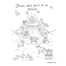 Scroll down) baby jesus in the. Nativity Coloring Page Click For Details Annie Poon