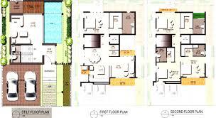 modern small house floor plan for modern cube house design