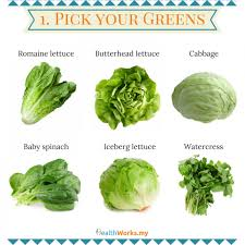 Lettuce Types Chart How To Make The Perfect Salad A Visual Guide Healthworks