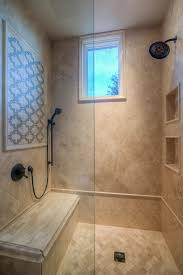 Custom Luxury Walk-in Shower with Two Shower Heads and Accent Tile Work.