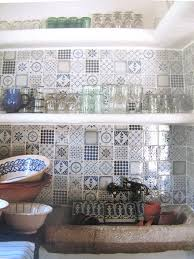 Blue Tiles For Kitchen Unique Blue And White Kitchen Tiles 56 Regarding Home Redesign