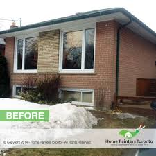 exterior painting pictures of homes. exterior brick painting - before after photo gallery pictures of homes