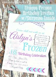 Frozen Invites Unique Frozen Birthday Party Invites With Treat Inside Party Part 2