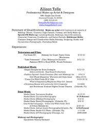 Cover Letter Sample Artist Resume Sample Makeup Artist Resume