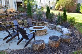 Stacked Stone Fire Pit fire pits & places 24 west lake landscaping 8410 by uwakikaiketsu.us