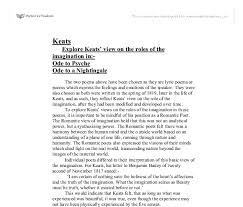 explore keats view on the roles of the imagination in ode to  document image preview