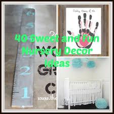 40 sweet and fun diy nursery decor design ideas