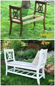 garden bench plans. Beautiful Bench DIY Broken Chair Garden Bench Instructions  Outdoor Ideas For Plans E