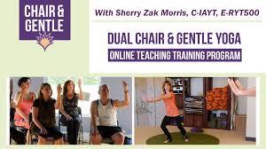 dual chair and gentle yoga teacher program