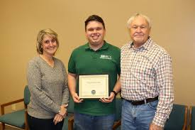 Last week, GACD awarded Wesley Doyle, our DPA for the Lamar and Towaliga  Conservation Districts, the new Star DPA award at his district meetings.  Wesley was presented with a plaque and a