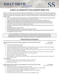 Community Outreach Resume Professional Resume Templates