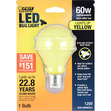 Led Yellow Bug Light 60 Watt Equivalent A19 Led Yellow Bug Light Feit Electric