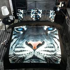 tiger bedding hot white tiger head printing bedding sets twin full queen king size fabric tiger bedding