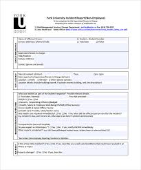 Incident Reporting Template Sample Incident Report Template 100 Free Download Documents in 20