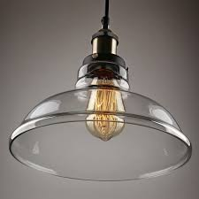 living gorgeous industrial glass pendant light 6 edison vintage style clear enchanting lampshade for hanging socket