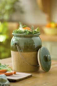 Green Stoneware Compost Crock | Ideas to daydream about ...