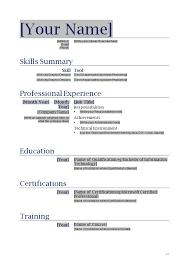 Sample Resume Template Word Format Samples Experience Resumes