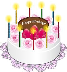 Cake With Candles Happy Birthday Art Png Picture Gallery