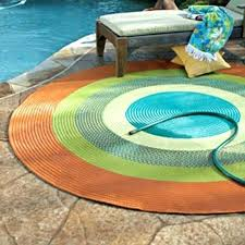 colorful outdoor rugs area bright round
