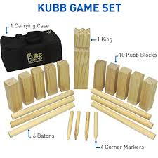 Lawn Game With Wooden Blocks Interesting Amazon EasyGoProducts Kubb The Viking Wooden Outdoor Lawn Game