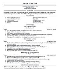 Objective For Nanny Resume Nanny resume examples are made for those who are professional with 1