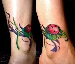 Tatuaggi Piccoli Coccinelle Su Caviglia Tatuaggio