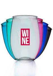 plastic stemless wine glasses details