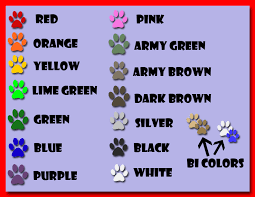 Paracord Color Chart By Faolanwolfsavor Fur Affinity Dot