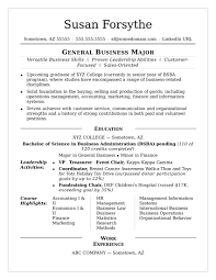 Template Sample Recent College Graduate Resume Student Templ Resume