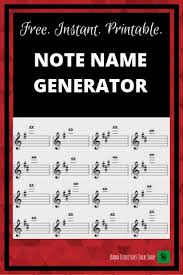 Free Note Name Generator You Will Love This Band
