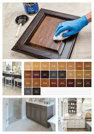 our best tips for staining cabinets or