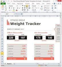 Fitness Progress Chart Template For Excel Free Group Weight Tracker Template For Excel