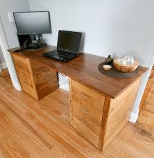 reclaimed wood office. Custom Reclaimed Wood Office Desk With A Black Walnut Desktop And American Chestnut Base C
