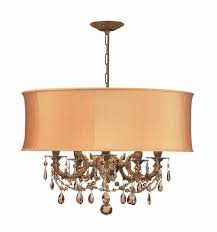 crystorama gramercy 5 light mini golden teak crystal drum shade chandelier drum shade chandeliers chandeliers