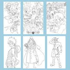 Bộ Tranh tô màu Anime One Piece - Dành cho các Fan của One Piece yêu thích  sáng tạo