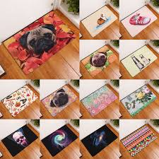 details about new animal dog water absorb area rugs carpet non slip mat floor mat door barrier