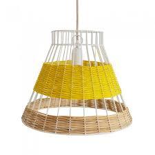 Image Luminous Yellow Straw Canne Yellow Pendant Lamp Mica Lighting Straw Yellow Pendant Lamp Colonel For Serax