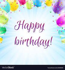 Balloon Birthday Card Design Color Birthday Card Design Template Balloon